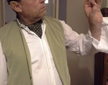 Sage Green Waistcoat. Hobbit Waistcoat. Bilbo Baggins-Inspired. Faux Moleskin Jerkin. LOTR Cosplay.