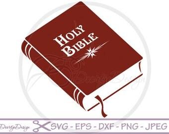 SVG Holy Bible, Religion, SVG Christian Illustration, Svg cut files, scrapbooking, Vector Files, Clip Art, Svg files Holy Bible, DXF files