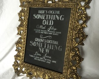 Wedding Signature Drink Menu
