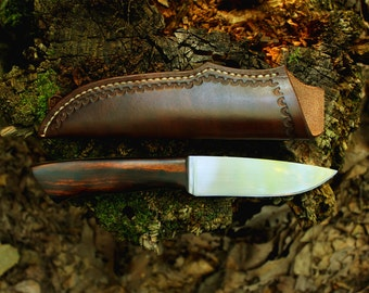 Custom Knife - Handmade - Desert Ironwood