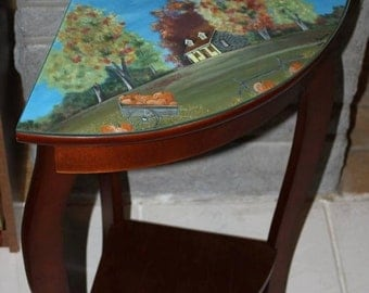 Corner shaped wooden table