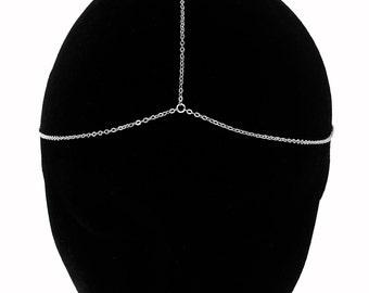 Silver Chain Headpiece