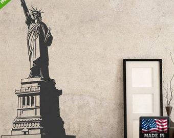 rvz199 Wall Decals Art Decor Sticker Bedroom Kids Statue of Liberty