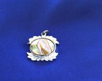 Vintage Abalone Shell Pendant