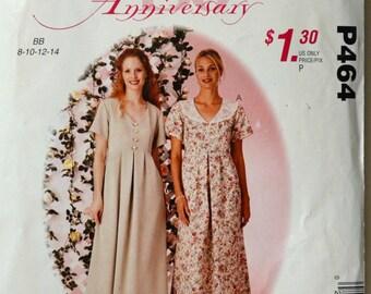 Uncut 2000s McCall's Vintage Sewing Pattern P464, Size 8, 10, 12, 14; Misses' Dress