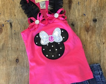 Minnie Mouse baby bling tank