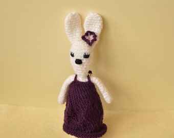 Crochet bunny rabbit, white bunny rabbit, soft toy, amigurumi doll