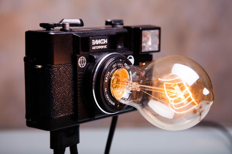 foto kamera lampe retro licht nachtlicht lampe. Black Bedroom Furniture Sets. Home Design Ideas