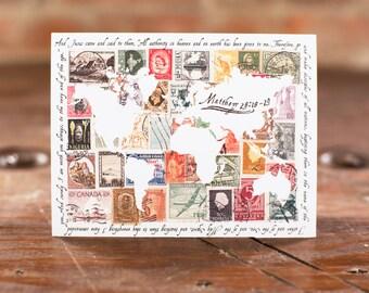 World Stamps Scripture Cards