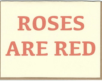 Roses Are Red card
