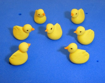 6 x Duck Chick Edible sugar paste cake topper decoration birthday party