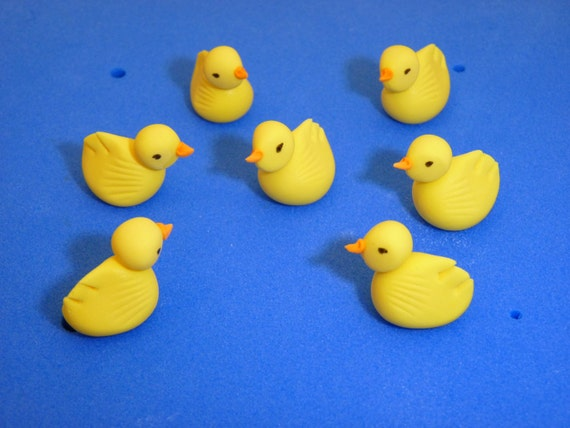 Duck Cake Decorations Uk : 6xDuck Chick Edible sugar paste cake topper decoration