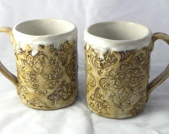 Rustic Handmade Mugs, set of 2