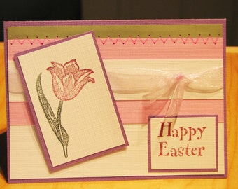 Easter Card, handmade card, Spring card, Happy Easter Card, pastel card, MADE TO ORDER