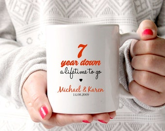 7th anniversary gift 7th wedding anniversary 7th anniversary 7 years marriage personalised