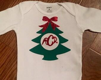 Monogram Christmas Tree Shirt