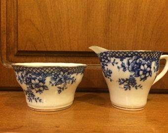Vintage Rosina creamer and sugar bowl