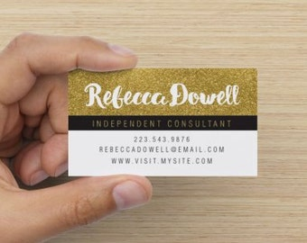 Business Cards Rodan and Fields Gold Style