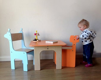 MULTIPLE ITEMS: 2 Children's' Chairs & Table