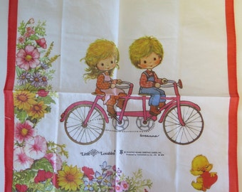 Set of 4 Vintage 1970s Hankies - Little Lovables by Nakanishi