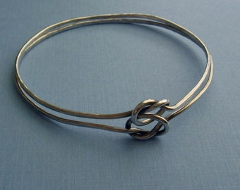 Friendship Knot Bracelet - Sterling Silver