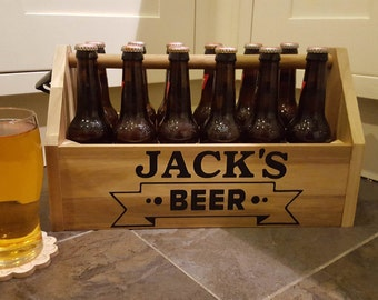 Personalised Beer Crate/ Box, ANY NAME!