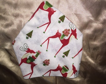 Xs dog bandanna reindeer