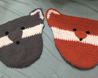 Fox or Wolf Baby Blanket