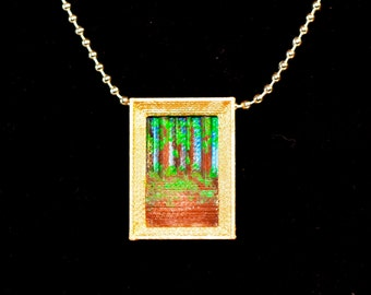 The Maine Woods Necklace, Woods Necklace, Trees Necklace, Trees Pendant, The Woods