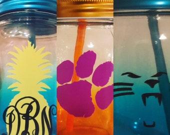Personalized Mason Jar Glass