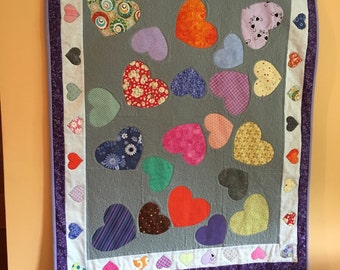 Heart All Over Baby Quilt