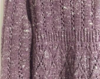 Purple lavender tunic sweater size xl cotton wool mix