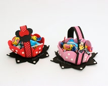 pink Minnie Birthday Minnie Mouse Goodie Bags Minnie Mouse Party Bags Minnie Mouse Favors Minnie Favors, Minnie Toppers, Minnie Center Piece