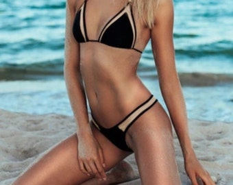 Classic mesh triangle bikini