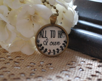 All to Him I Owe Pendant Necklace with Charms