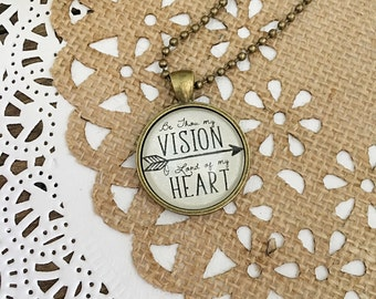 Be Thou My Vision Pendant Necklace with Charms