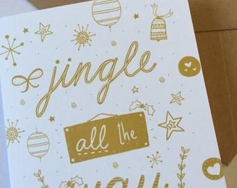 Jingle all the way Christmas Cards