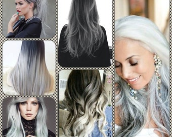 Ombre Grey extensions