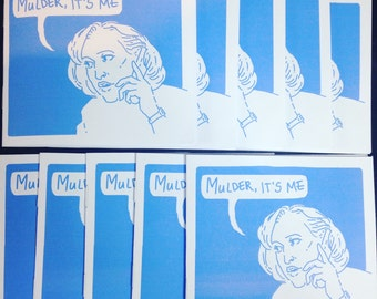Mulder, It's Me - a short X-Files zine with Mulder and Scully