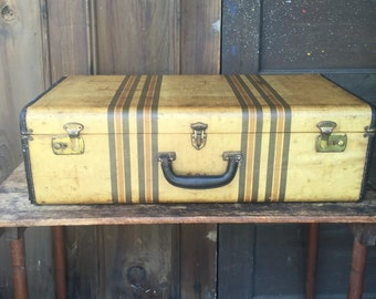 Vintage Suitcase with Tray