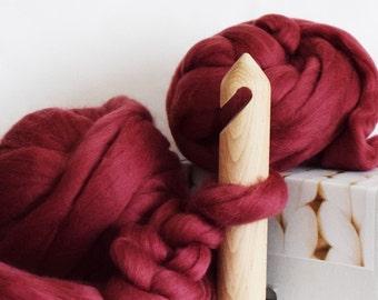 Handmade 40mm giant crocheting hook, extreme crocheting, gorgeous gift for crocheting lover