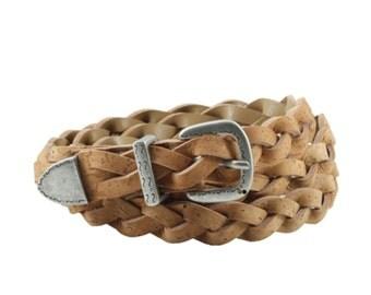 Dress Decoration Braided Cork Belt