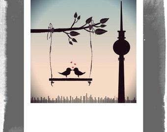 Polaroid postcard - Berlin loves