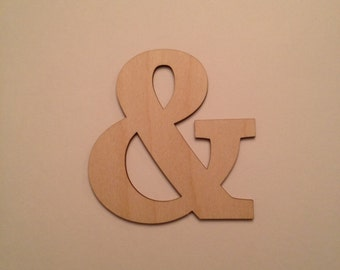 Ampersand personalized wooden wall decor