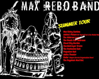 Max Rebo Band, Summer Tour T-Shirt (men's and women's sizes); Star Wars, Return of the Jedi