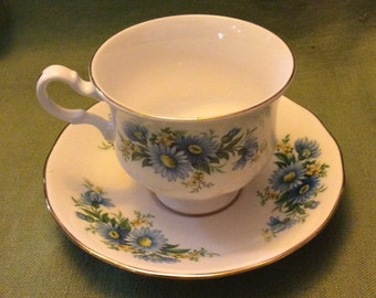 Queen Anne Bone China, Cup and Saucer