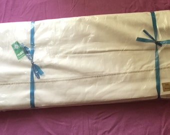 Unused Pair of French Vintage Metis Cotton/Linen Double Bed Sheets.