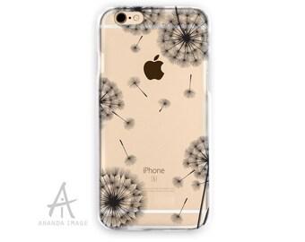 iPhone 6S Case, Floral Transparent iPhone 6 Case,  Black Print  TPU Case 6/6S pluss, Clear with Design  iPhone SE Case, iPhone 5/5S, T-103