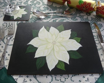 Hand painted Christmas Place mats