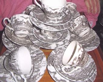 Staffordshire Ironstone & myott Royal Mail (1910-1920) 24 cups/cake plates